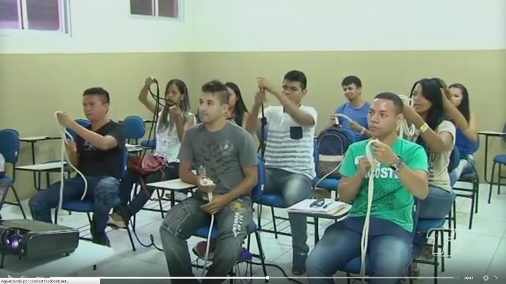 Programação do Mundo Senai reúne pessoas que têm interesse em crescer profissionalmente — Foto: Reprodução/TV Tapajós