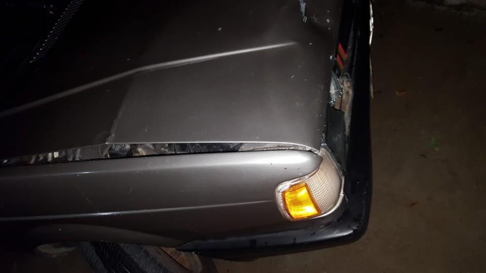 Carro usado no crime foi apreendido — Foto: Polícia Militar/Divulgação