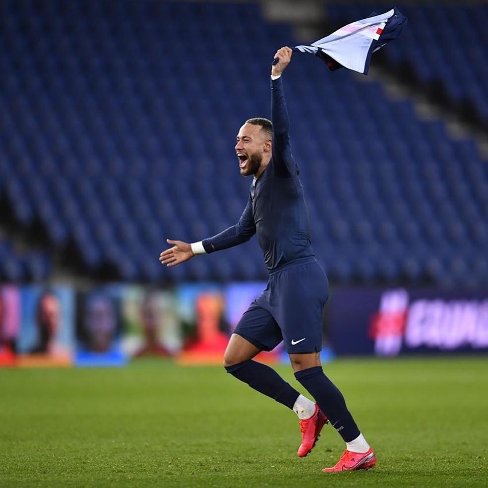 PSG de Neymar foi declarado o campeão francês no dia 30 de abril — Foto: Reprodução/Instagram