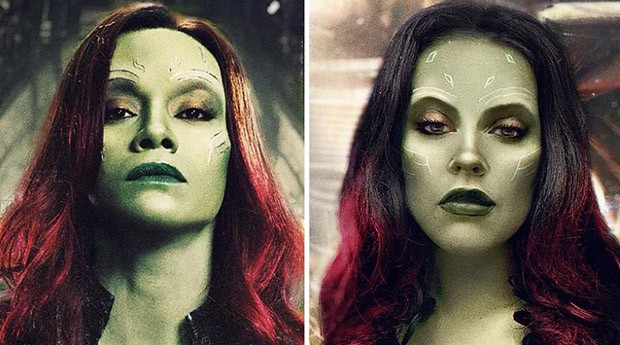 Gamora, do filme Guardiões da Galáxia (Foto: Instagram/benzoate_ost)