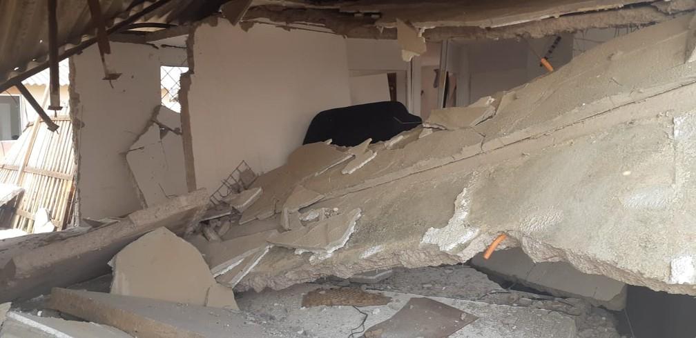 Interior de uma das casas após explosão em Porto Velho, no Orgulho do Madeira — Foto: Cássia Firmino/Rede Amazônica