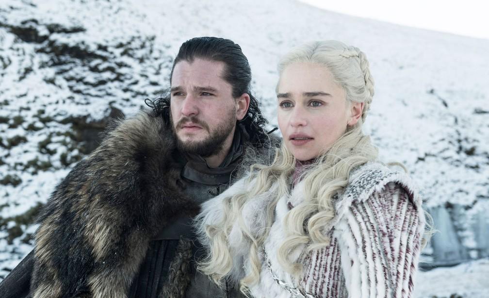 Jon Snow (Kit Harington) e Daenerys Targarye (Emilia Clarke) em 'Game of Thrones' — Foto: Divulgação/HBO