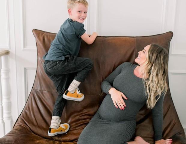 Hilary Duff já está exausta da segunda gravidez (Foto: Instagram/Reprodução)