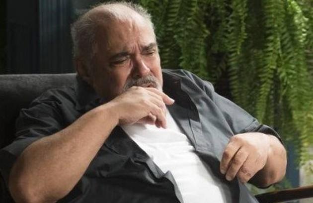 Agenor (Roberto Bomfim) terá um final trágico e aparecerá praticamente cego no último capítulo (Foto:  Raquel Cunha)