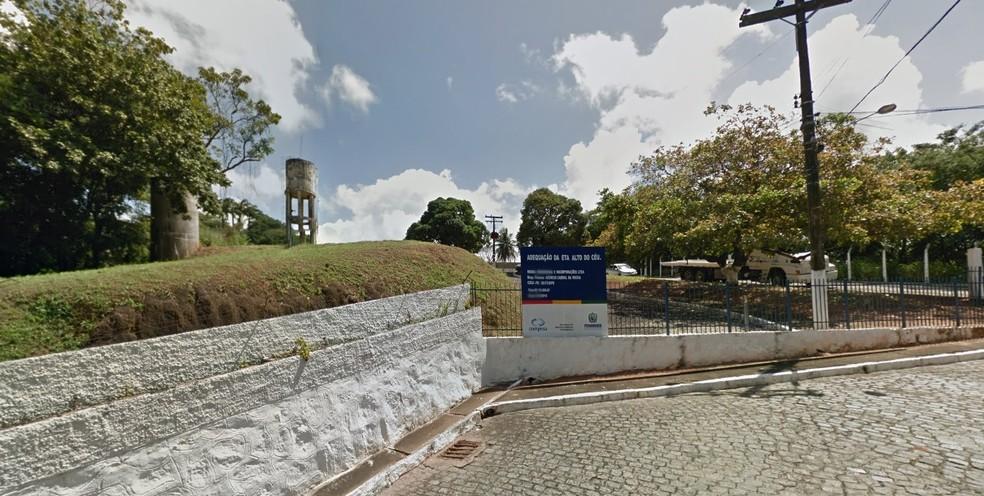 Estação Alto do Céu, da Companhia Pernambucana de Saneamento (Foto: Reprodução/Google Street View)