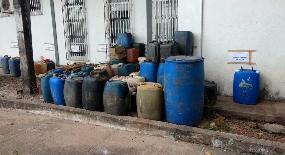 -  Material apreendido pela Polícia Civil durante a operação  Foto: Divulgação/Polícia Civil