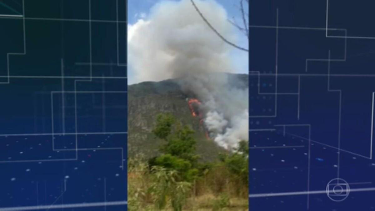 Incêndio atinge Parque das Sete Passagens, na Chapada Diamantina