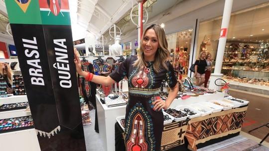 Fernanda Pinheiro visita Feira das Nações