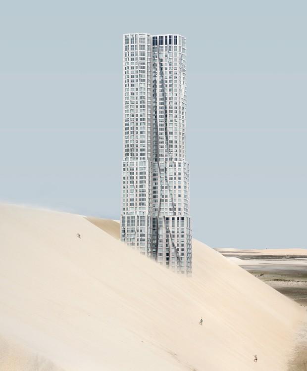 O 8 Spruce Street é um arranha céu arquitetado por Frank Gehry e completo em 2010 (Foto: Anton Repponen)