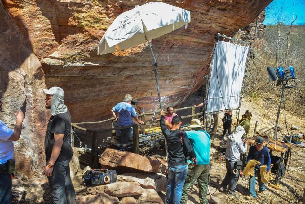 Documentário traz imagens das pinturas rupestres da Serra da Capivara, no Piauí — Foto: Divulgação