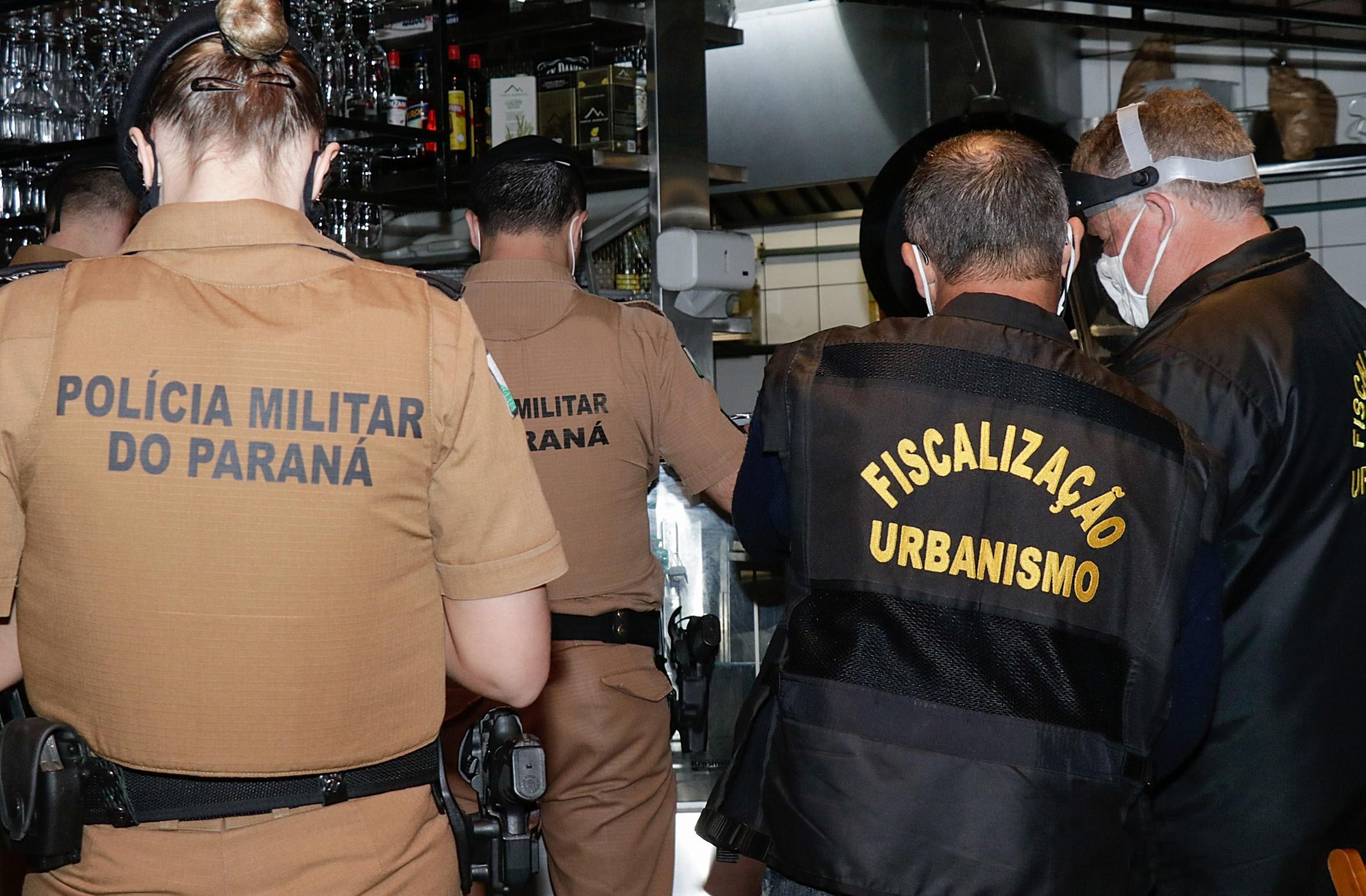Coronavírus: Em dois dias, 47 estabelecimentos são interditados pela Prefeitura de Curitiba