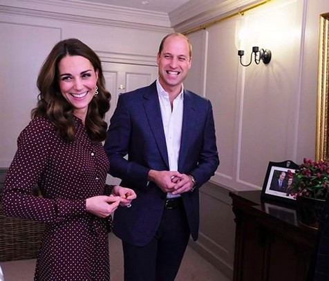 O Príncipe William e a esposa, a duquesa Kate Middleton (Foto: Instagram)