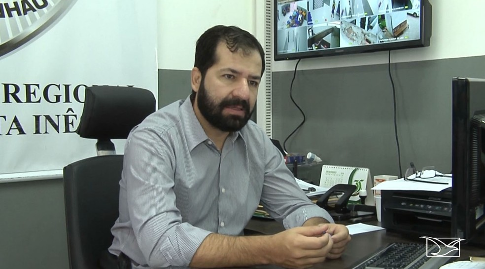 Delegado Regional de Santa Inês, Ederson Martins, é acusado do abuso de autoridade contra agente penitenciária — Foto: Reprodução/TV Mirante