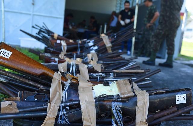 TJ-AM encaminha lote com mais de 400 armas para incineração