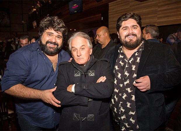 A dupla César Menotti & Fabiano com Otávio Mesquita  (Foto: Claudio Soares/ Divulgação)
