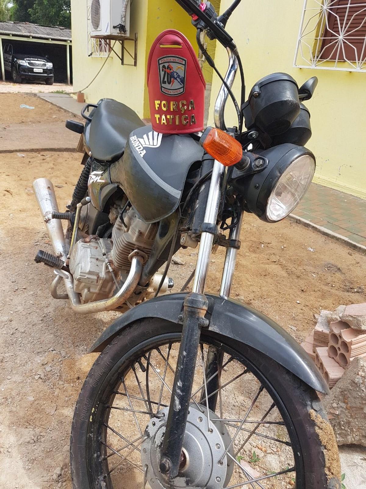 Homem é preso com moto roubada após fugir da PM em Caracaraí, Sul de Roraima