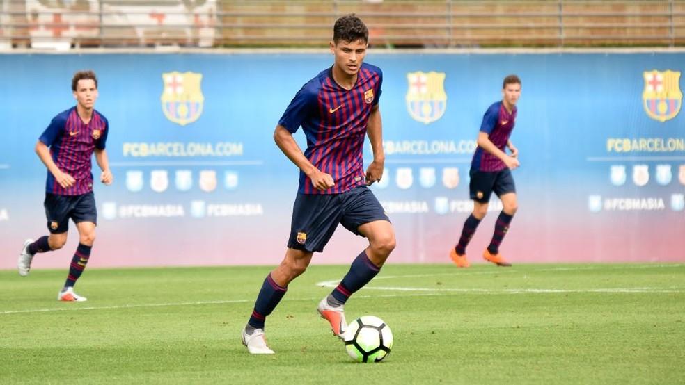 Lucas de Vega é jogador do Barcelona B — Foto: Divulgação/Barcelona