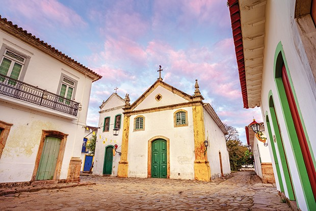 Nossa Senhora do Rosário Church is located in Paraty, one of the first cities in Brazil where the portuguese left their finger prints in the archtecture of the city. (Foto: Getty Images/iStockphoto)