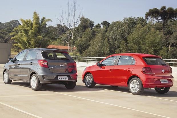 Ford Ka 1.5 AT x VW Gol 1.6 AT (Foto: Fabio Aro/Autoesporte)