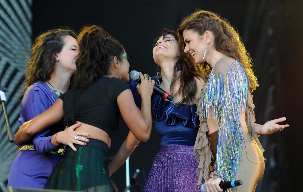 Cantoras que homenagearam João Donato no 2º dia de Rock in Rio (Foto: Alexandre Durão/G1)