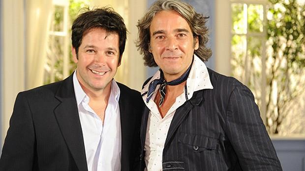 Murilo Benício e Alexandre Borges em 'Ti ti ti' (Foto: Globo)