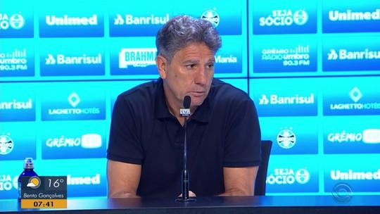 """Renato pede maior investimento para ficar no Grêmio: """"Se fechar muito, pode contratar outro"""""""