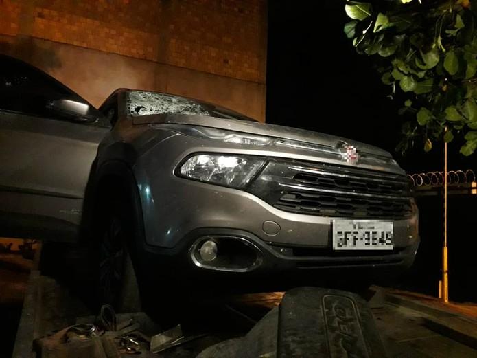 Carro tinha placa de Pernambuco e era roubado — Foto: Divulgação/SSP-BA