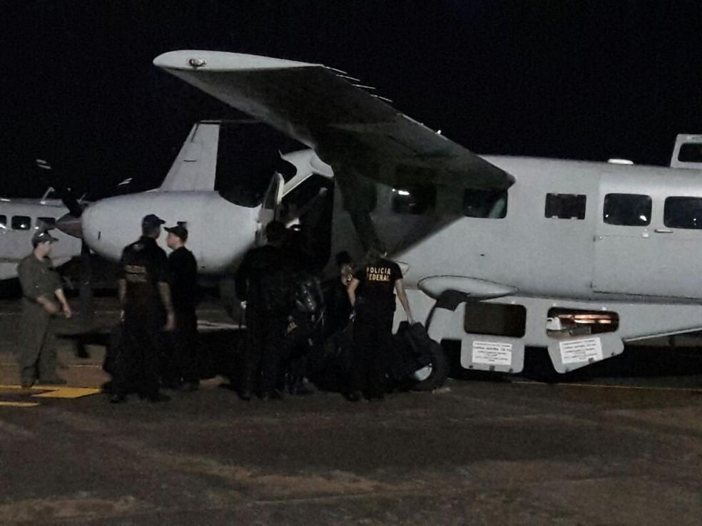 A operação contou com a participação das polícias Civil e Militar, além de homens do Exército Brasileiro (Foto: Divulgação/Polícia Federal do Acre)