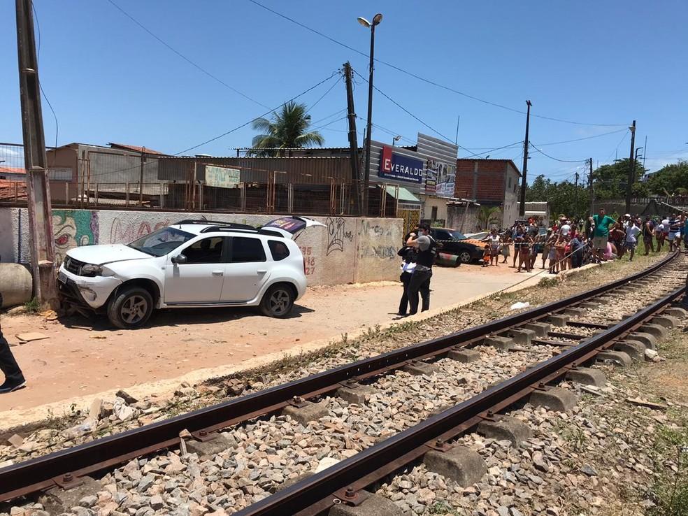 Idoso morre atropelado por motorista que tentava fugir de tiroteio em Natal — Foto: Ayrton Freire/Inter TV Cabugi