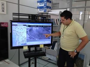 Metereologista diz que Rio Madeira vai continuar baixando em RO (Foto: Matheus Henrique/ G1)