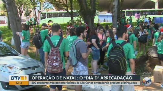Ação para arrecadar doações reúne cerca de 500 estudantes de duas universidades de São Carlos