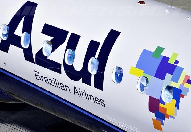Logotipo da companhia aérea Azul (Foto: Reprodução/Facebook)