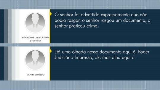 Filho de ex-prefeito de Astorga suspeito de fraudar licitações explica porque rasgou documento em operação; ÁUDIO