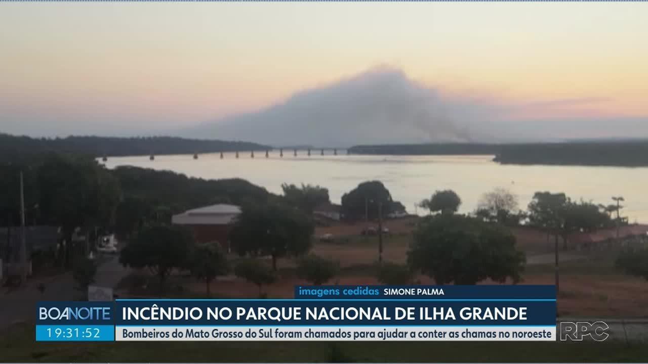 Incêndio no Parque Nacional de Ilha Grande