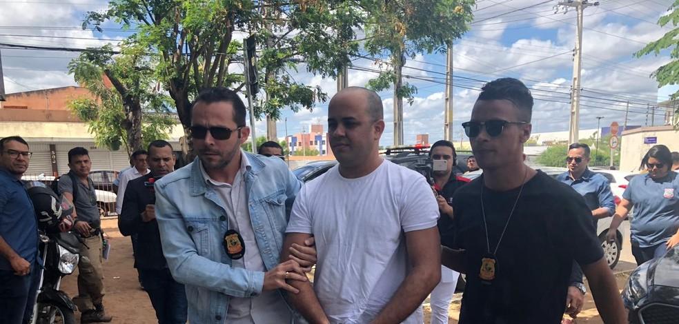 Vereador Romário Araújo (SD) foi capturado em Natal (RN) e transferido para Sobral, no interior do Ceará. — Foto: Maristela Gláucia/ SVM