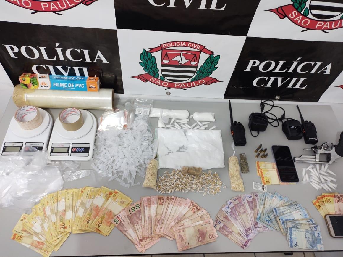 Cinco são presos em operação contra o tráfico em Caçapava