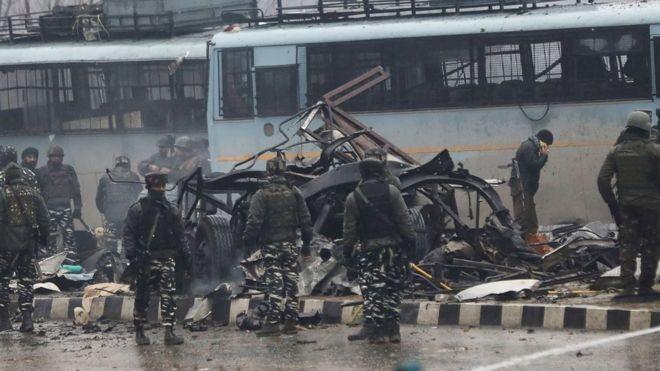 O ataque de 14 de fevereiro que matou mais de 40 soldados indianos foi um dos mais mortíferos em décadas  (Foto: Getty Images/via BBC News Brasil)
