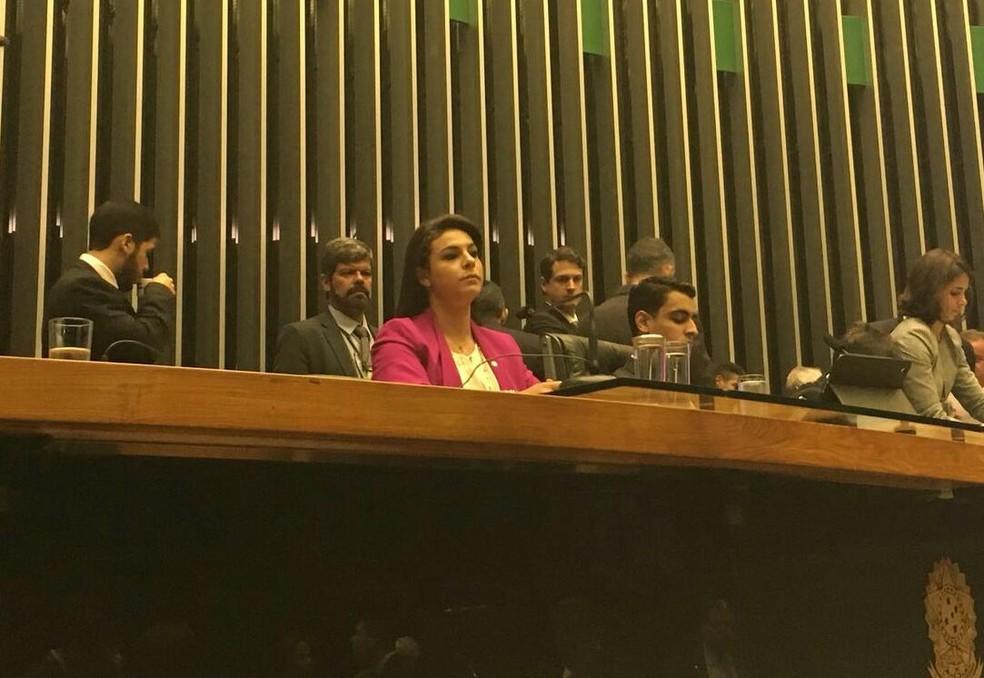 A segunda-secretária da Mesa Diretora da Câmara, Mariana Carvalho (PSDB-RO) (Foto: Alessandra Modzeleski/G1)