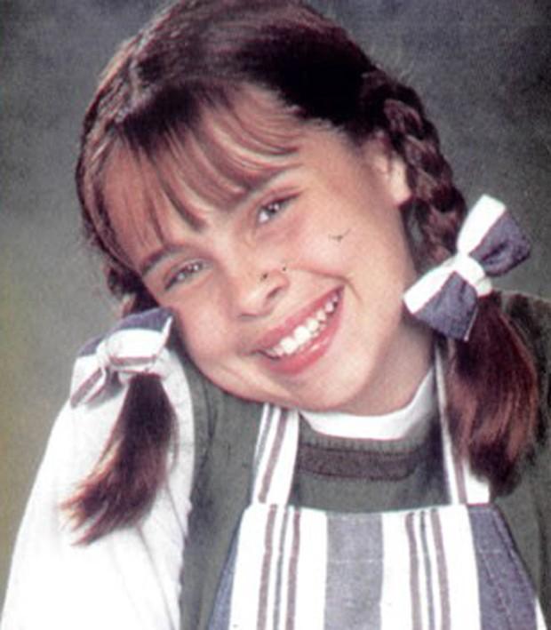 """Gisele Frade em """"Chiquititas"""", do SBT  (Foto: reprodução )"""