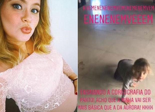 Mariana Bridi mostra dança de Aurora (Foto: Reprodução/Instagram)