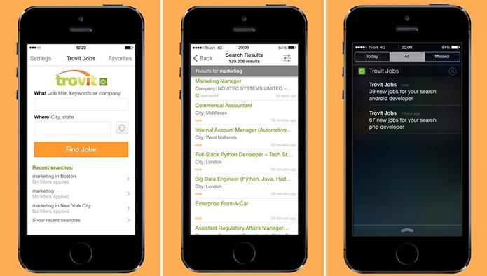 Trovit é um aplicativo para Android e iOS com busca por faixa salarial (Foto: Divulgação/App Store)