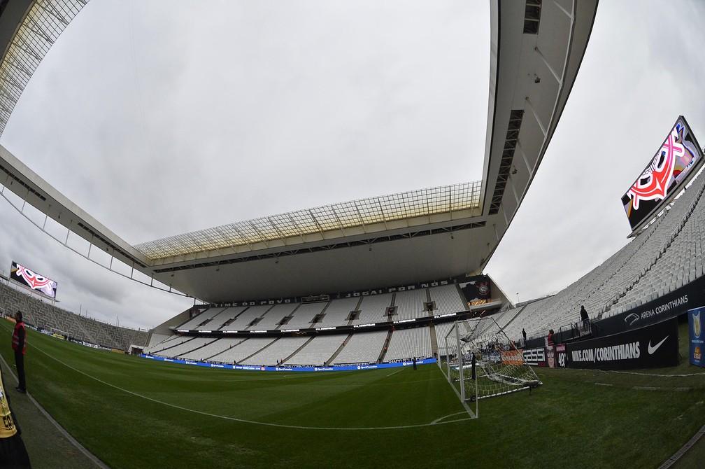 Corinthians ainda não vendeu os naming rights da Arena Corinthians — Foto: Marcos Ribolli