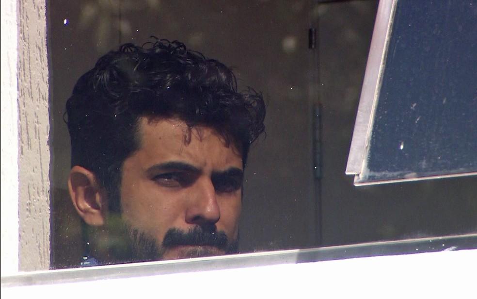 Estivens Alves, ex-marido de Najila, presta depoimento — Foto: TV Globo/Reprodução