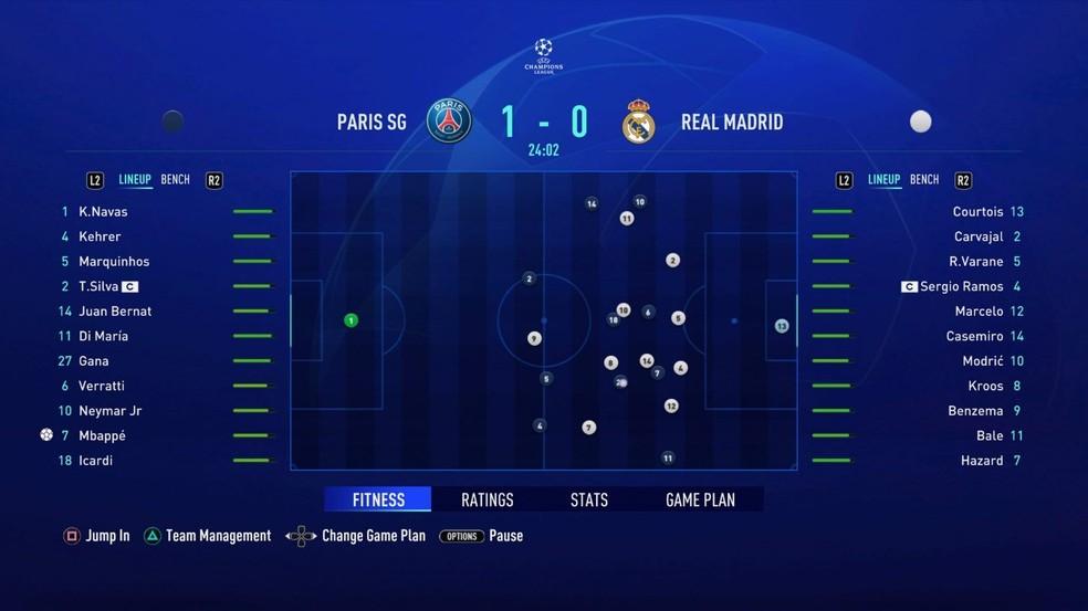 Simulador interativo das partidas é um das novidades do Modo Carreira do FIFA 21  — Foto: Reprodução/EA Sports