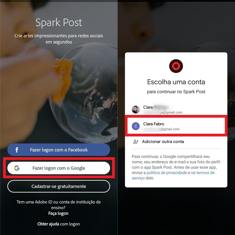 Baixe o app e cadastre-se na plataforma para começar a usá-lo — Foto: Reprodução/Clara Fabro