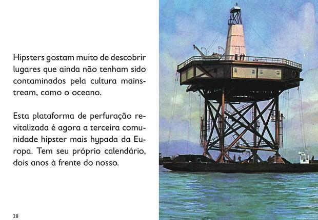 Página do livro O Hipster (Foto: Divulgação/Intrínseca)