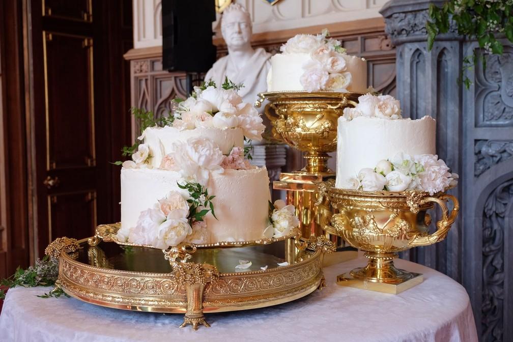 Cerimonial divulga foto do bolo do casamento (Foto: Reprodução/TV Globo)