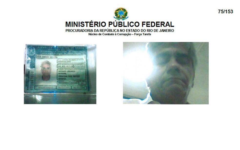 Carlos Bezerra é apontado pelo MPF como operador de Adriana Ancelmo (Foto: Reprodução/MPF)