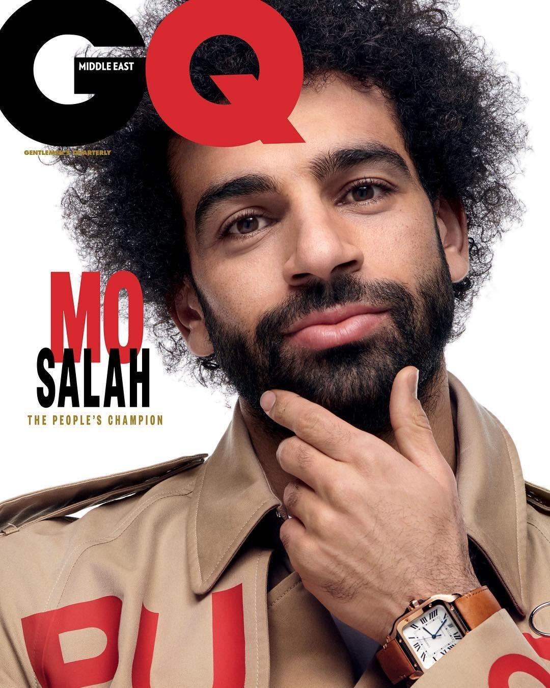 Mo Salah na capa da GQ Middle East (Foto: Reprodução/Instagram)