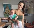 Kyra Gracie com o filho Rayan | Reprodução